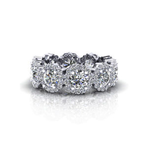 Diamond Cluster Eternity Wedding Ring