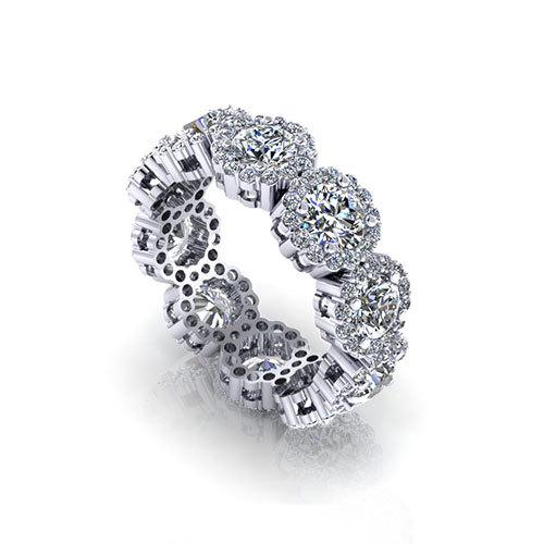 cluster eternity wedding ring jewelry designs