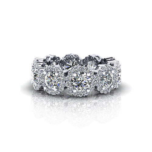 Diamond Cluster Eternity Wedding Ring
