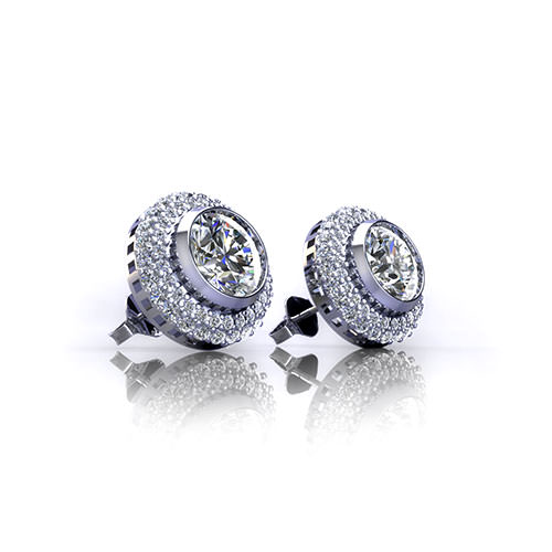 Bezel Set Diamond Earrings Jewelry Designs