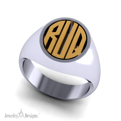 CAD190 Men's Initial Ring