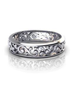 Scroll Pattern Wedding Ring