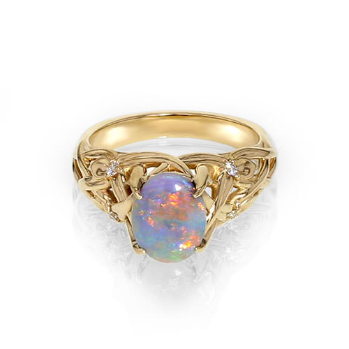 Opal Floral Ring Jewelry Designs