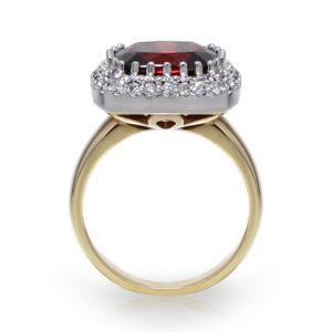 Cushion Rhodolite Garnet Ring