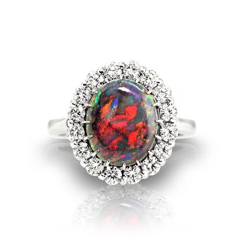 Australian Black Opal Rings