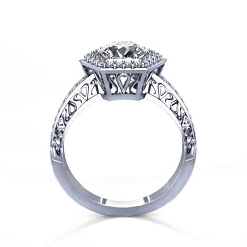 Hexagonal Engagement Ring
