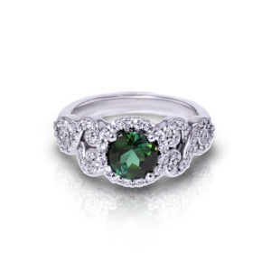 Scrolled Indicolite Ring