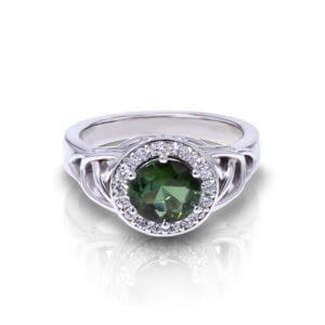 Trinity Green Tourmaline Ring