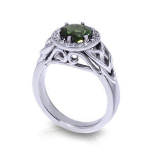 Trinity Green Tourmaline Ring