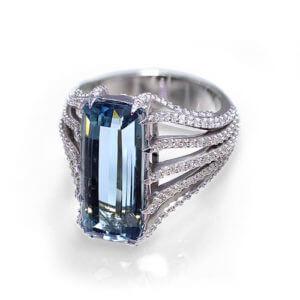 Blue Tourmaline Ring