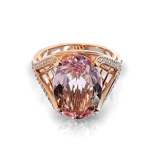 Morganite Rose Gold Ring
