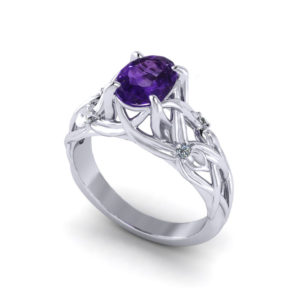 Floral Amethyst Ring