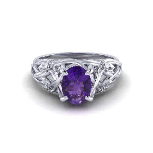 Floral Amethyst Ring