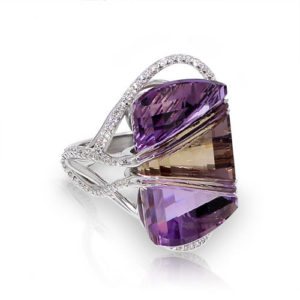 Freeform Ametrine Ring