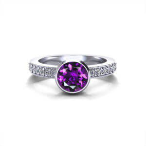 Amethyst Filigree Ring