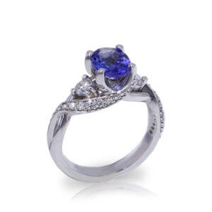 Tanzanite Crossover Ring