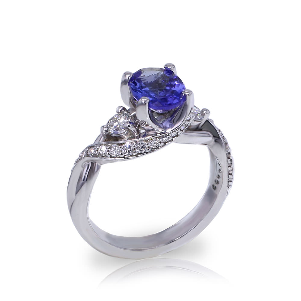 Tanzanite Crossover Ring Jewelry Designs