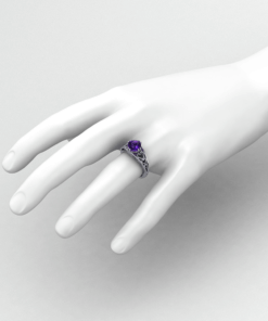 Amethyst Heart Ring