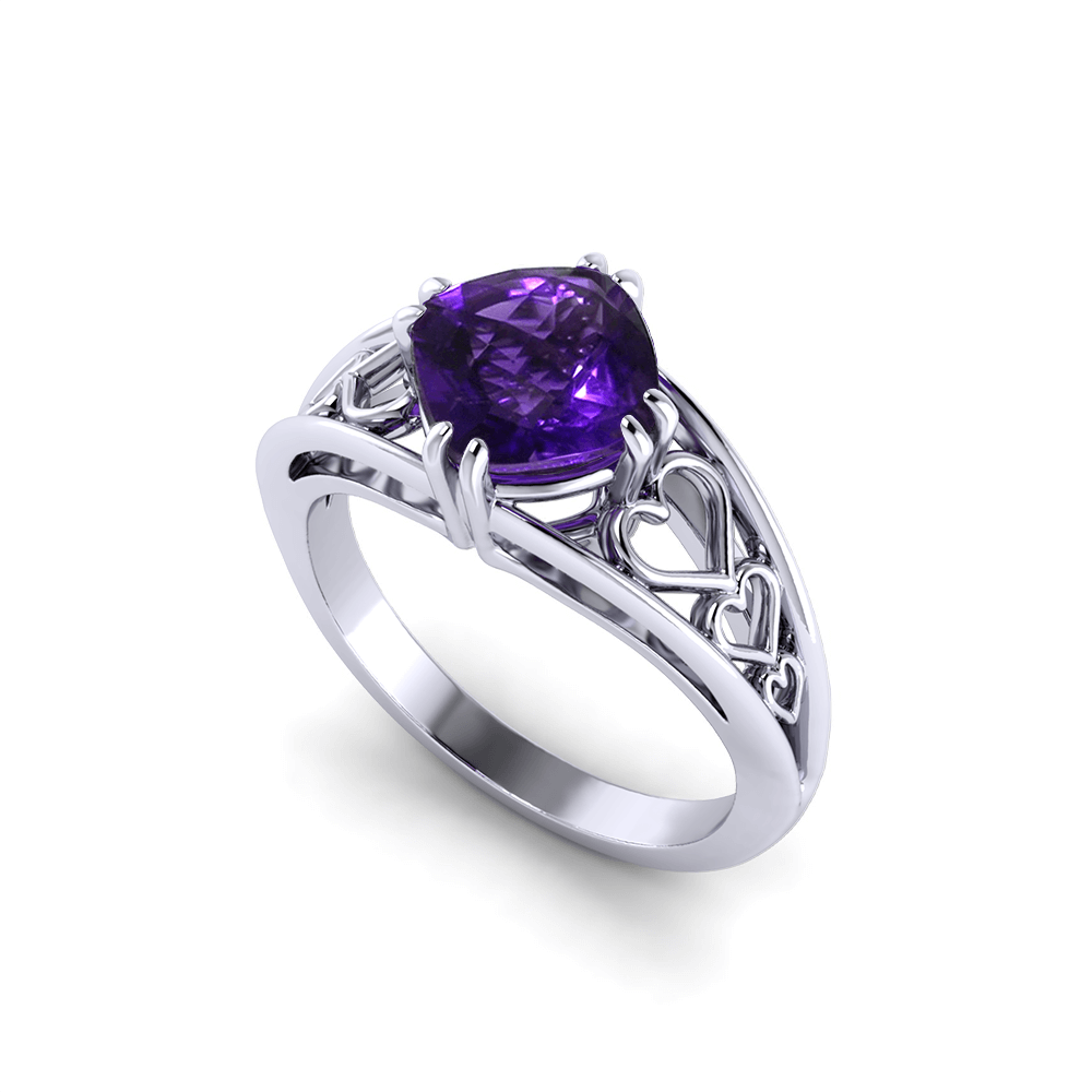 amethyst heart ring jewelry designs. Black Bedroom Furniture Sets. Home Design Ideas