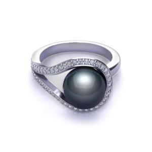 Tahitian Black Pearl Ring