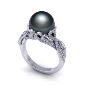 Black Tahitian Pearl Ring