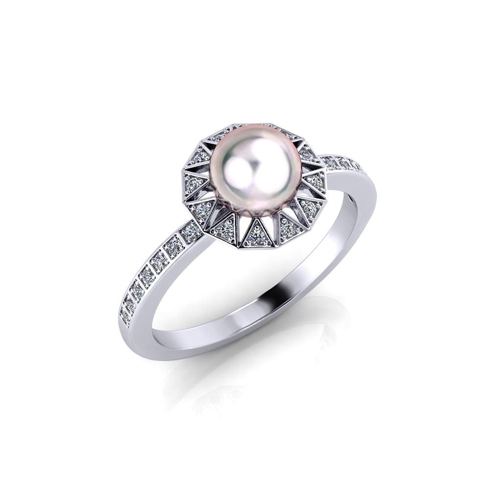 Vintage Cultured Pearl Ring