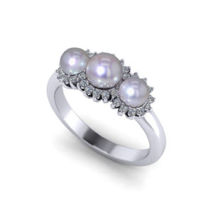 Three Pearl Ring