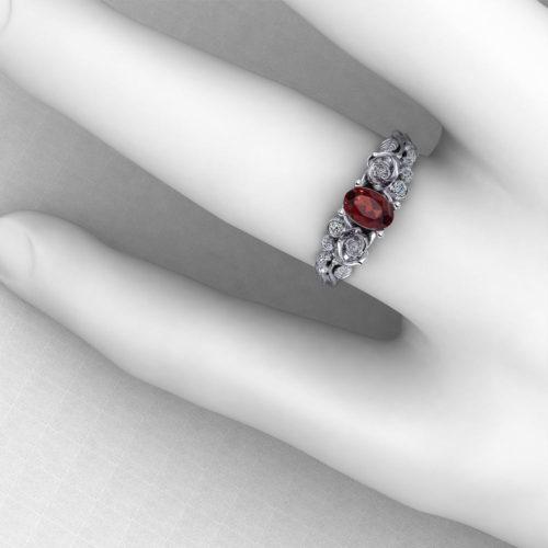 Garnet Rose Ring
