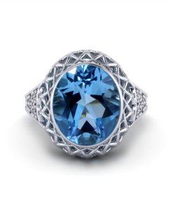 Filigree Gemstone Ring