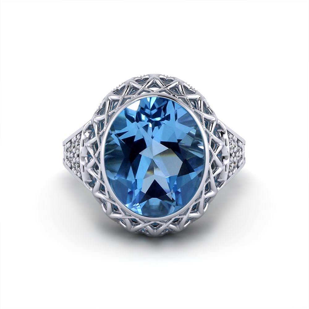Filigree Gemstone Ring