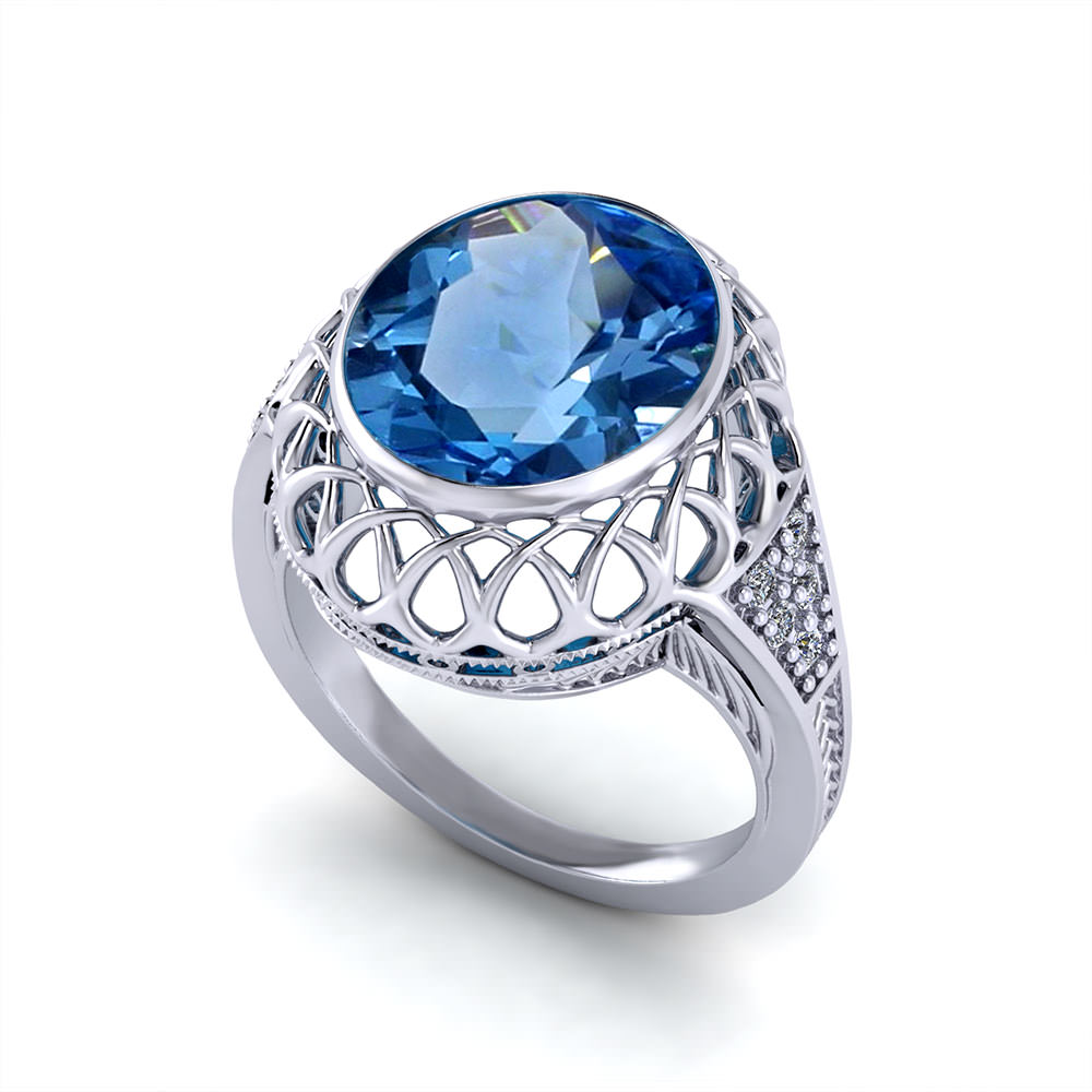 Gemstones For Rings: Filigree Gemstone Ring