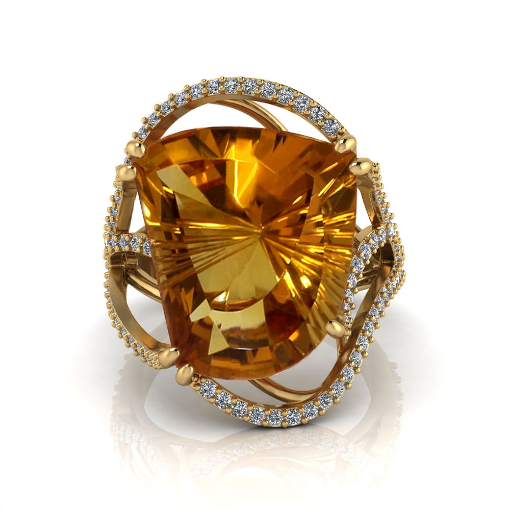 Artisan Citrine Ring