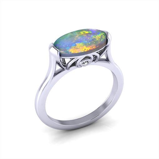 Horizontal Opal Ring