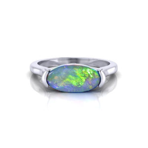 Horizontal Opal Ring