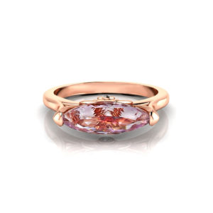 Rose Gold Imperial Topaz Ring
