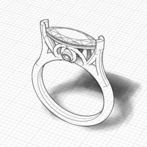 Rose Gold Imperial Topaz Ring