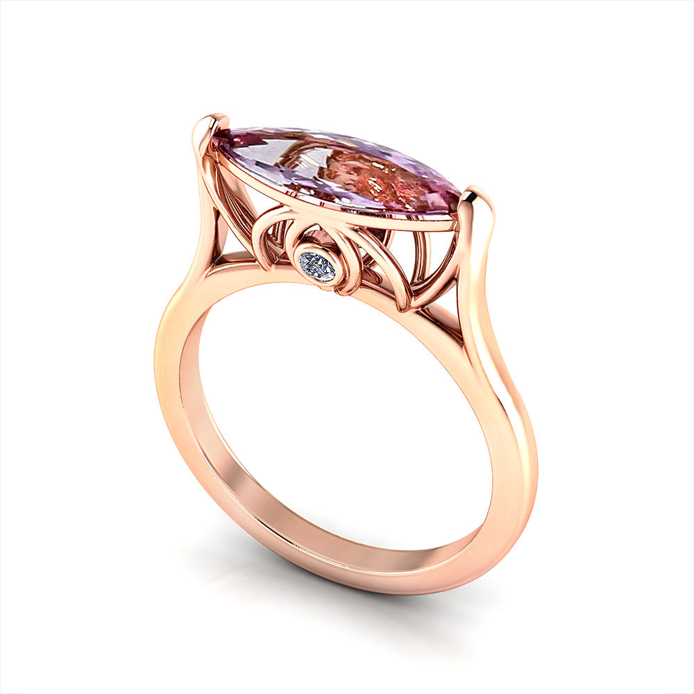 Rose Gold Imperial Topaz Ring Jewelry Designs