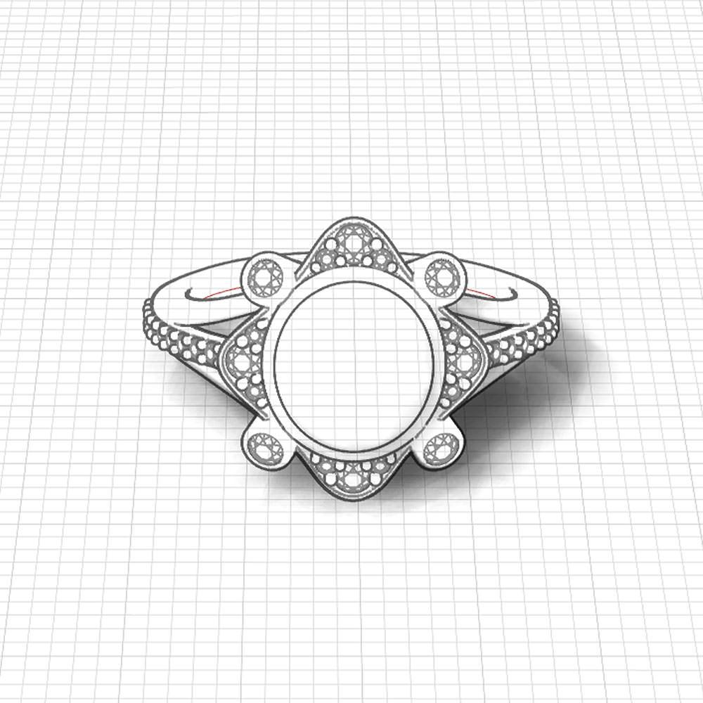 Cabochon Indicolite Ring