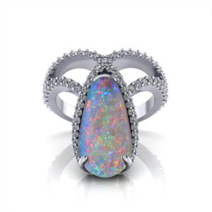 Dramatic Black Opal Ring