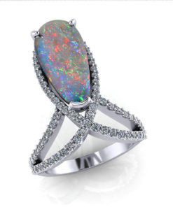 Dramatic Black Opal Ring