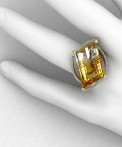 Horizontal Citrine Fashion Ring