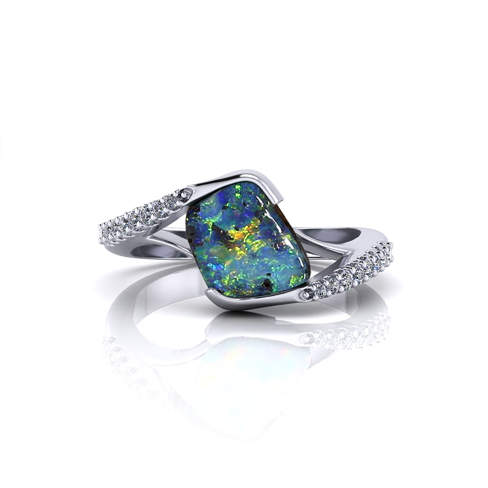 Boulder Opal Bypass Ring Jewelry Designs