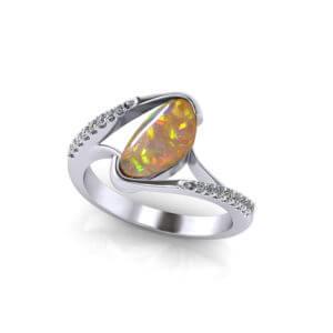Free Form Australian Opal Ring