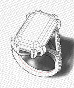 Dramatic Danburite Ring