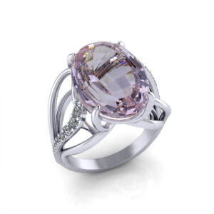 Ladies Kunzite Ring