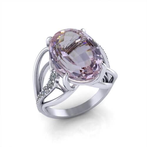 Ladies Kunzite Ring