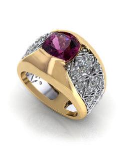 Rhodolite Garnet Dome Ring