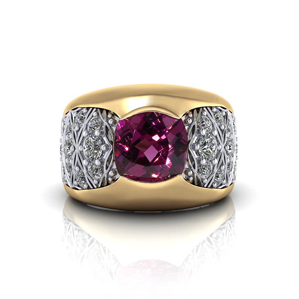 jewelry rhodolite garnet rings dome designs ring product