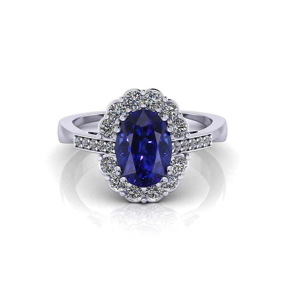 Pearl Sapphire Diamond Cocktail Ring