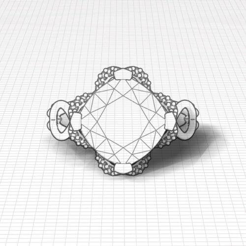 Rose Gold Rhodolite Ring